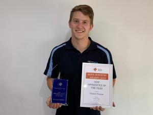 TAFE NSW STUDENT NAMED APPRENTICE OF THE YEAR IN INDUSTRY AWARDS