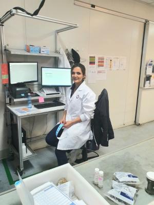 Mina puts lab skills to the test
