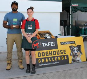 TAFE NSW Maitland students build paw-fect homes for RSPCA rescue dogs