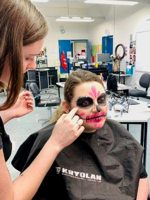 TAFE NSW make-up students bring Halloween fun to Erina Fair.