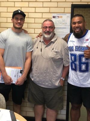 Parramatta Eels players take studies into their stride