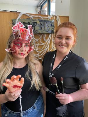 TAFE NSWmake-up students show off special effect skills this Halloween