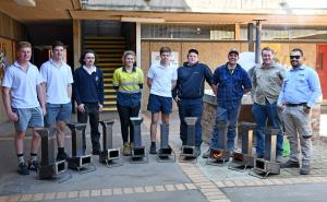 Sparks fly as Corowa students get taste of metal trades