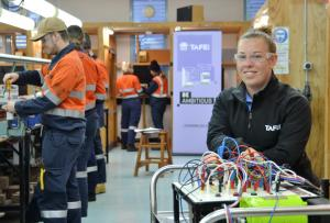 Leonie's a spark of inspiration to aspiring electricians