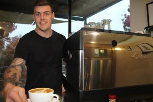 Brew-ha-ha: Damon's career in coffee steams ahead thanks to TAFE NSW