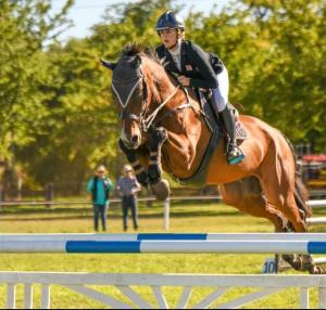 REINING SUPREME: Emily gallops into TAFE NSW and makes a flying start to equine career