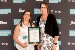 Bright spark lauded at prestigious TAFE NSW awards