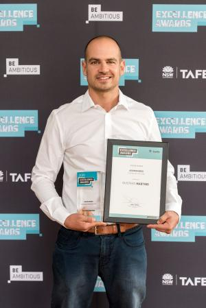 Class act: Gustavo claims top gongs at TAFE NSW Excellence Awards