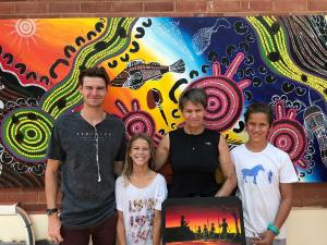 TAFE NSW skills program helps Warren locals create work of art