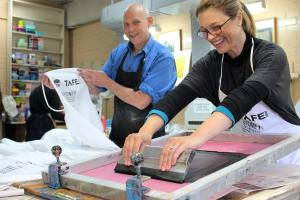 Award-winning printmaker shares his skills at TAFE NSW Meadowbank