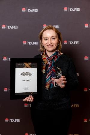 IRINA SMASHES LANGUAGE GOALS WITH HELP FROM TAFE DIGITAL