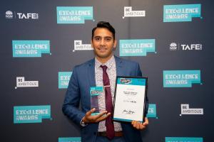 Jeffrey Green praised at prestigiousTAFE NSWawards