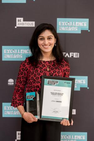Jisha best in the business at 2019 TAFE NSW Excellence Awards