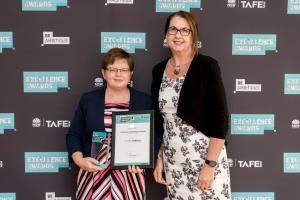 Age no barrier as Louise scores prestigious TAFE NSW award