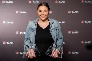 Inspiring Maddie scoops the pool at TAFE NSW Excellence Awards