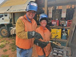 TAFE NSW welding truck battles drought and builds careers