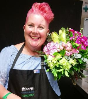 30 year wait for TAFE NSW Floristry graduate's dream job