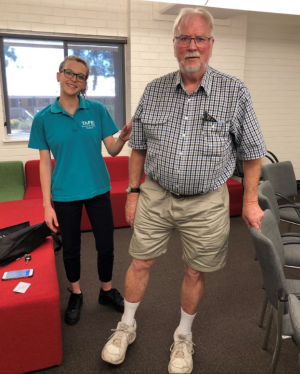TAFE NSW students helping locals over 65 find their balance