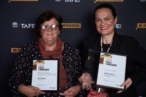 Ashleigh and Elsie shine at TAFE NSW Gili Awards