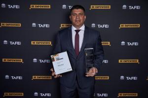 JefferyAmatto shines at TAFE NSW Gili Awards