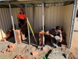 TAFE NSW Mudgee students lend a hand and gain new skills