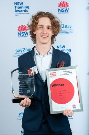 TYLER COOKS UP A WIN IN REGIONAL TRAINING AWARDS