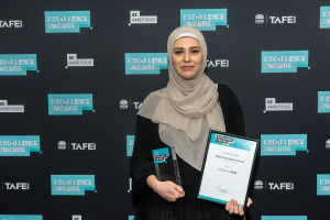 Yasamin Irak praised at prestigious TAFE NSW Excellence Awards