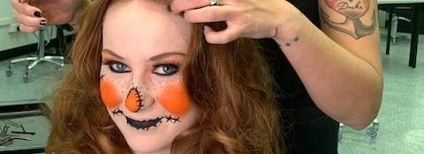 TAFE NSW make-up students bring Halloween funto Erina Fair.