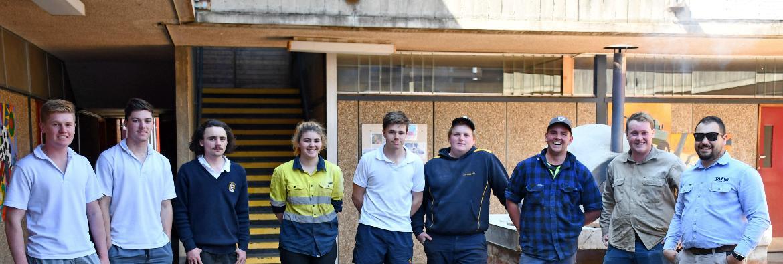 Sparks fly as Corowa students get taste of metal trades