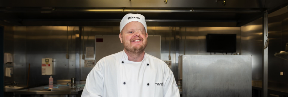 Craig Shanahan is the blind chef