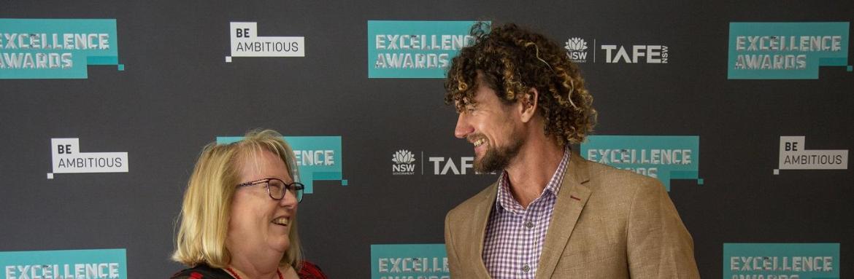Jeremy praised at prestigiousTAFE NSW awards