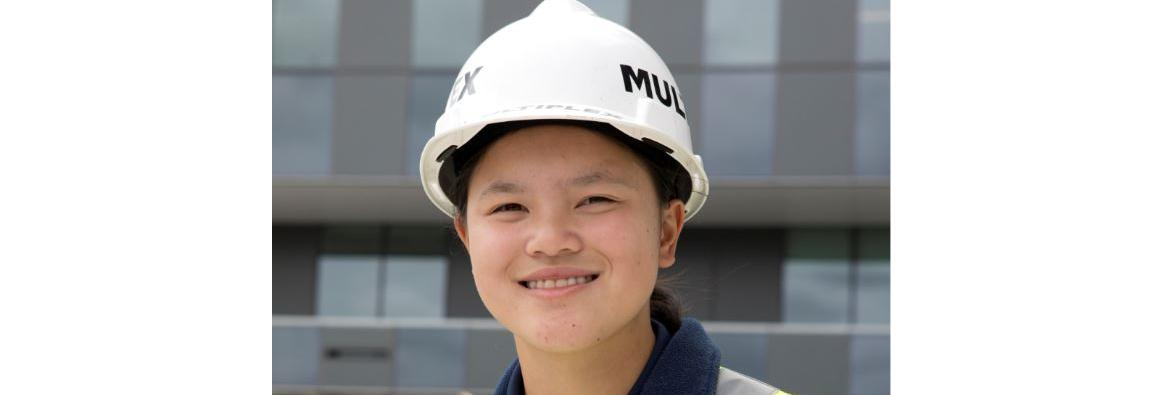FEMALE CONSTRUCTION APPRENTICE HELPS SHAPE WESTERN SYDNEY'S FUTURE