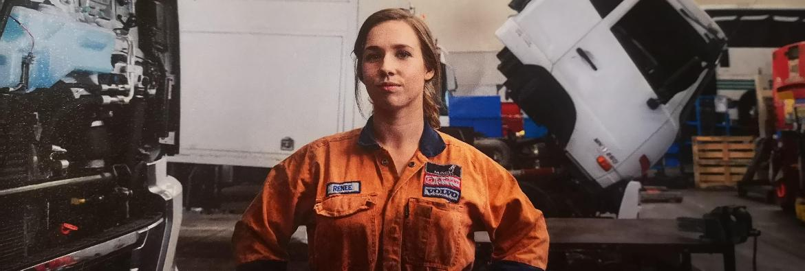 Female Trucking Apprentice has a successful career in tow