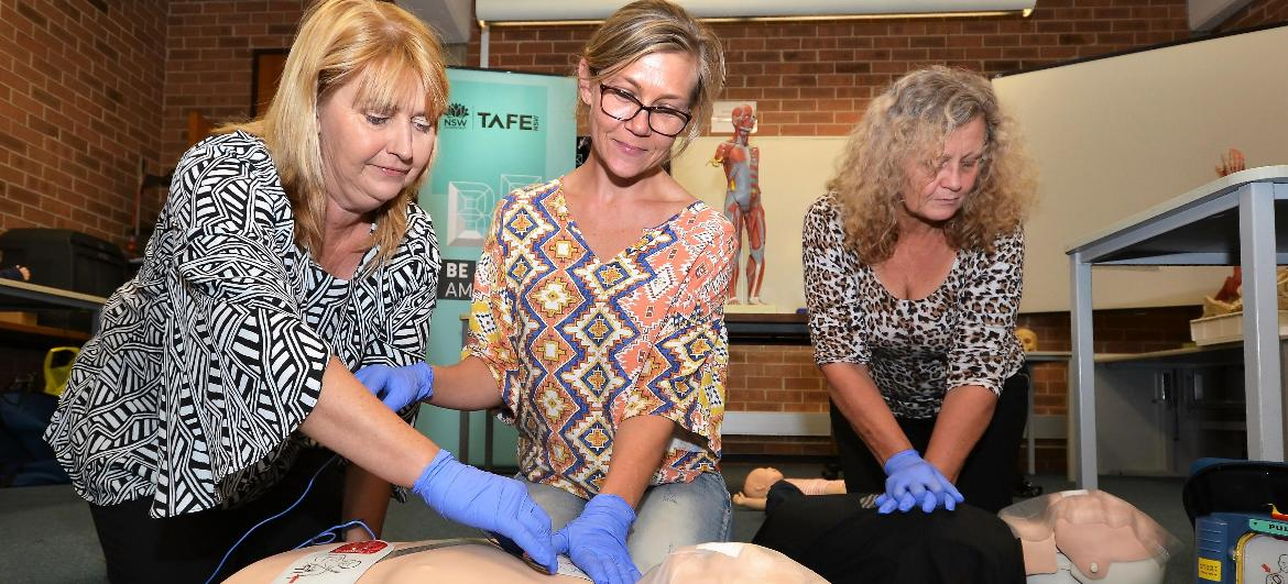 Zero to hero: TAFE NSWoffers a first aid lifeline to Bega residents