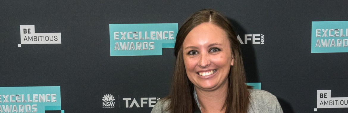 Talyn McNeill enthusiastically receives three TAFE NSW Excellence Awards