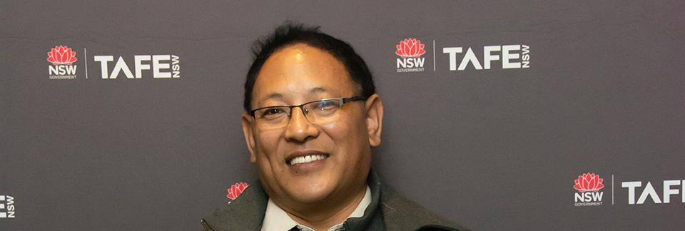 Tibetan refugee wins TAFE NSW award for giving his all