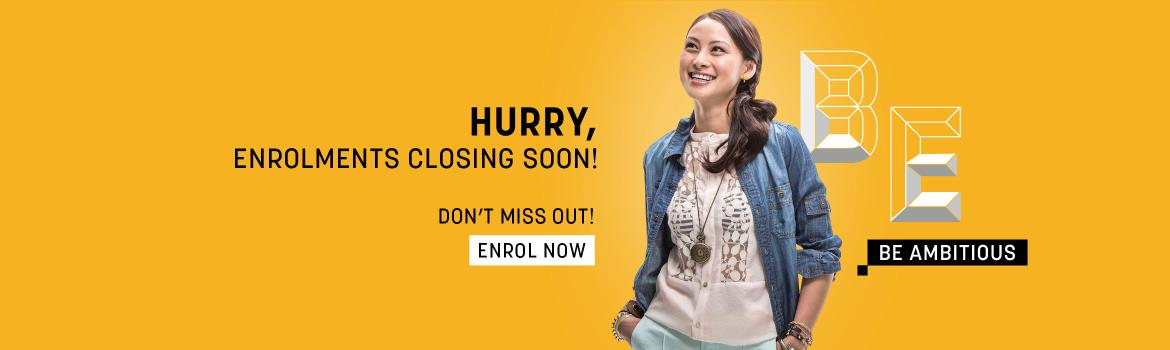 Enrolments closing soon - Don't miss out - Start 3rd Feb 2020