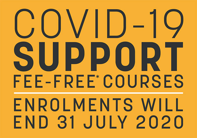 COVID-19 Support - Fee-free courses