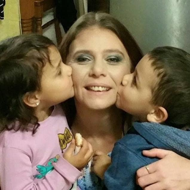 Kristen Gee with two of her children